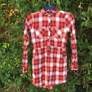 Gap Kids Red Flannel Dress